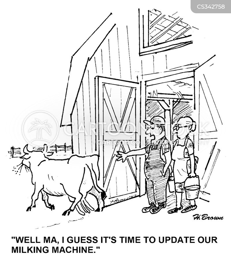 Milking Machines Cartoons And Comics Funny Pictures From Cartoonstock