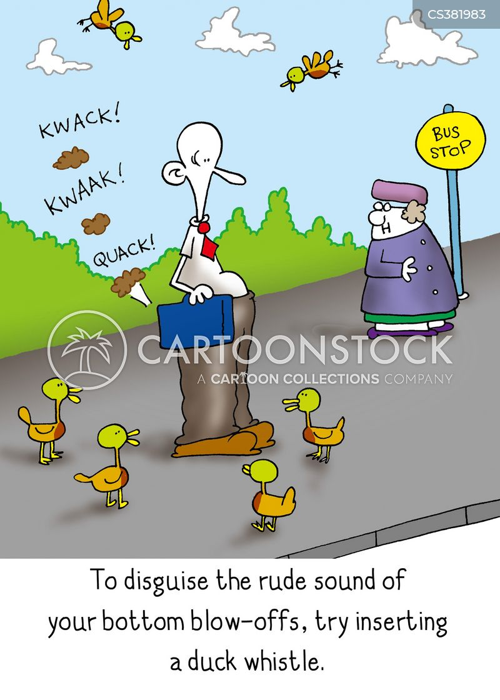 quacking cartoon