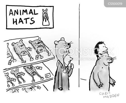 animal hats cartoon