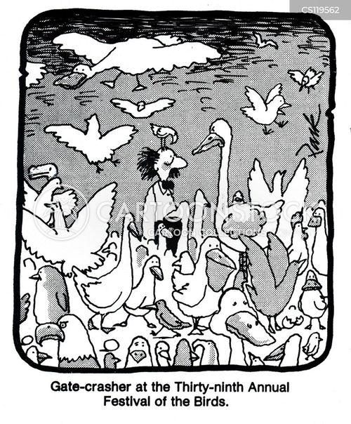 gate-crasher cartoon