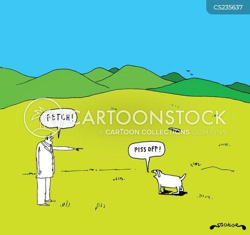 disobedient dog cartoon