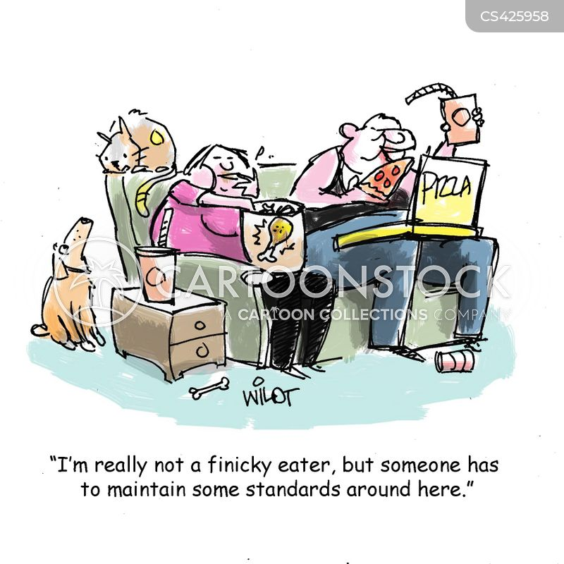 finicky eaters cartoon