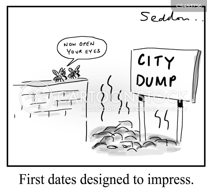 city dump cartoon