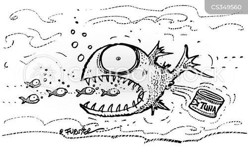 tinned tuna cartoon