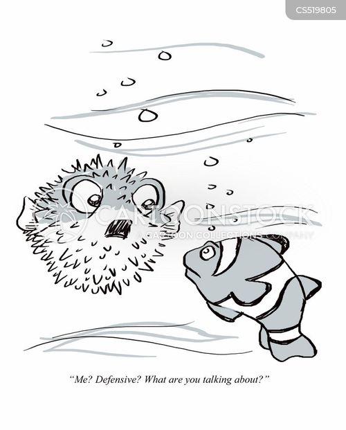 defensiveness cartoon