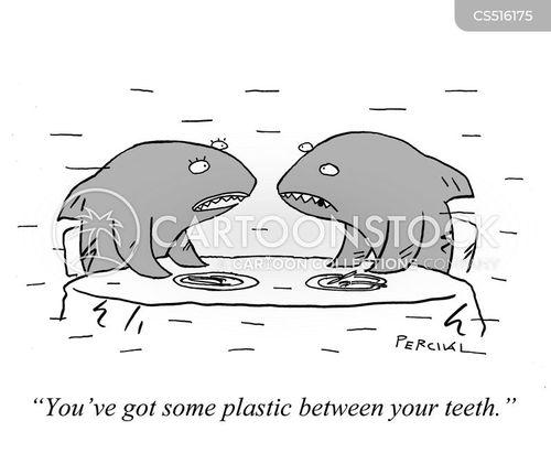 food in teeth cartoon