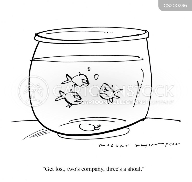 fish owner cartoon