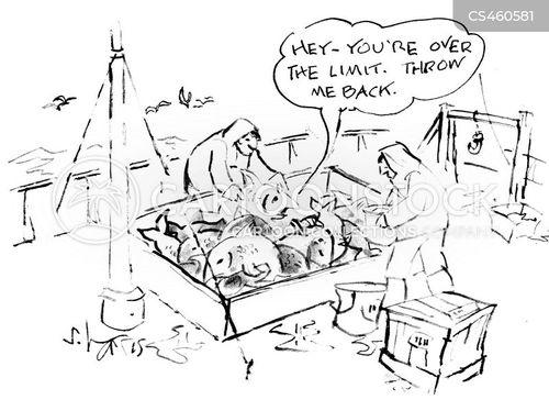 commercial fishing cartoon