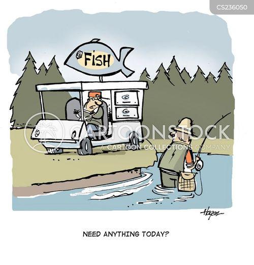fish man cartoon