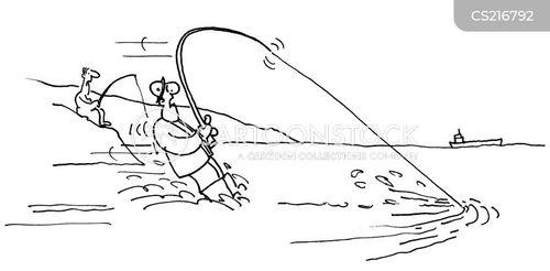 waterskiing cartoon