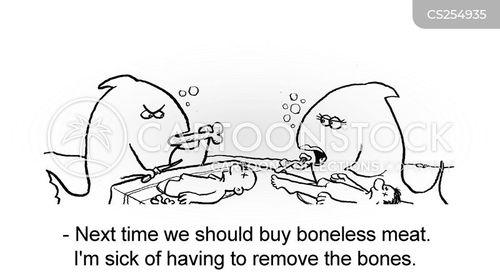 meat-eating cartoon