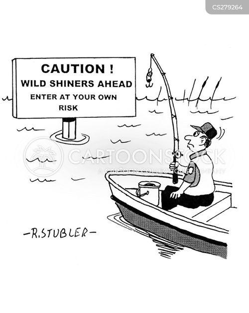 fishing poles cartoon
