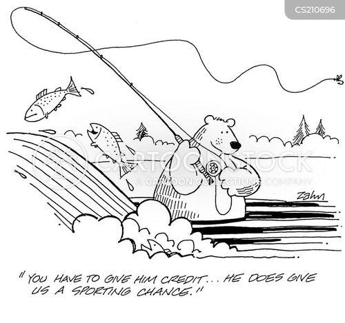 salmon fishing cartoon