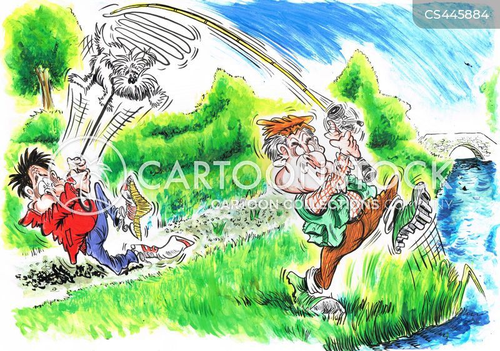 hooking cartoon