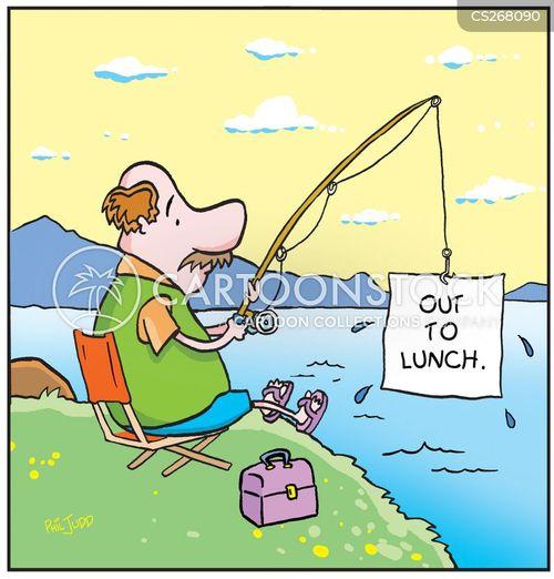 eating lunch cartoon