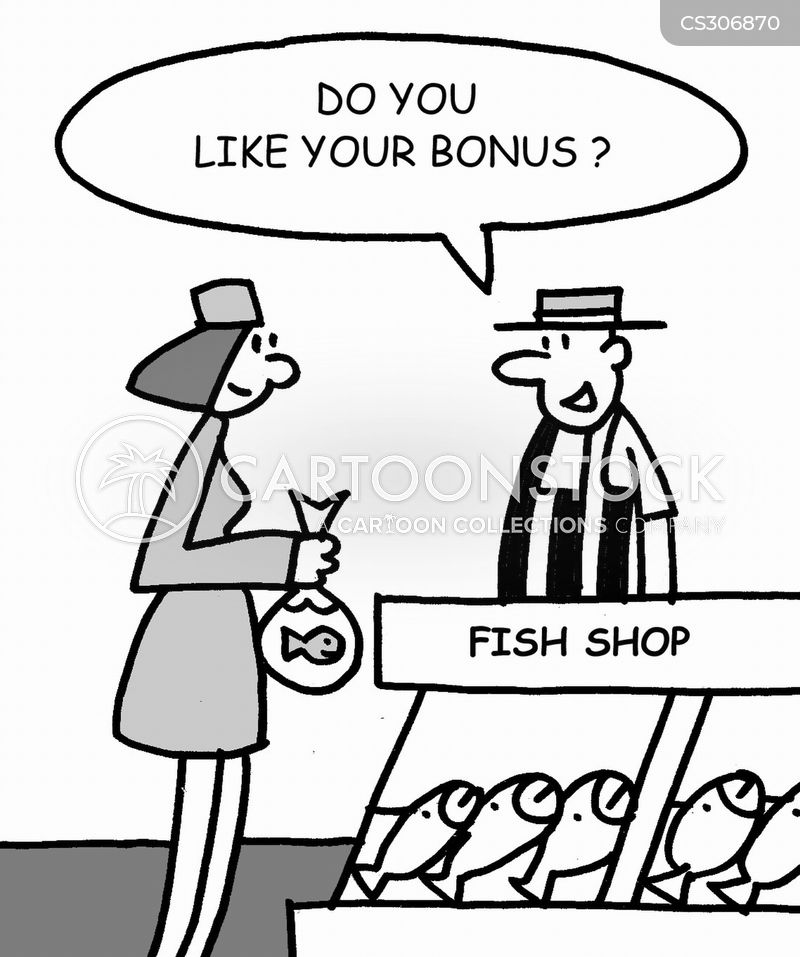 eating fish cartoon
