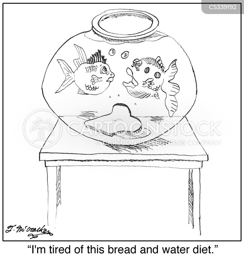 bread and water diet cartoon