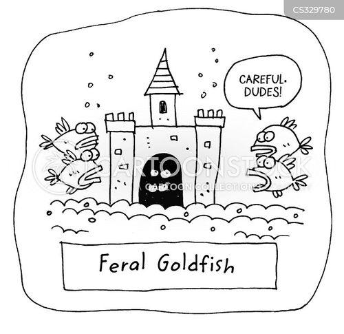 feral animal cartoon