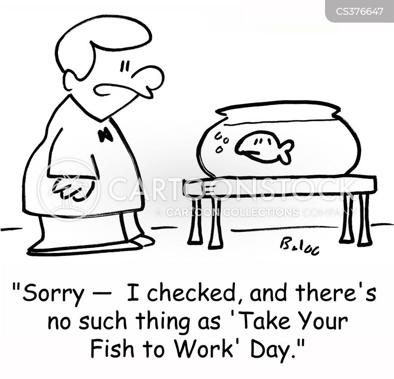 take your pet to work day cartoon