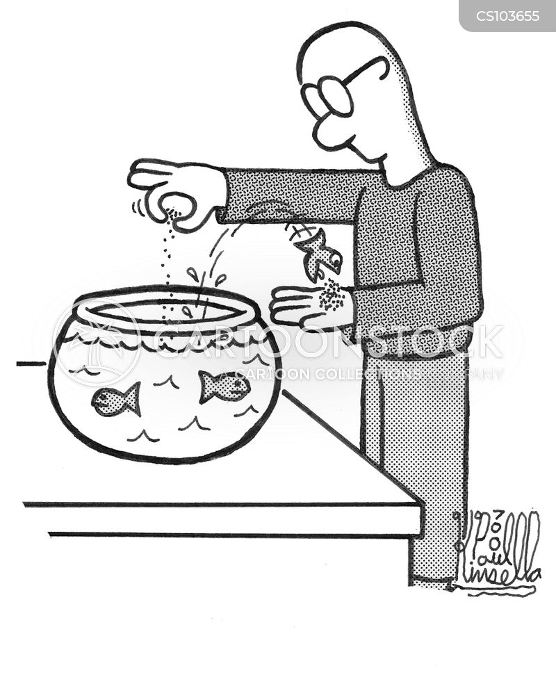 fish foods cartoon