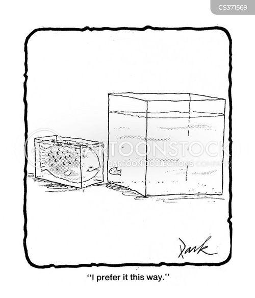 small fishes cartoon