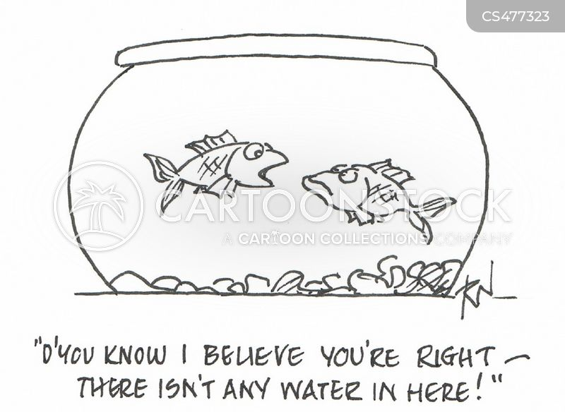 fish-bowl cartoon