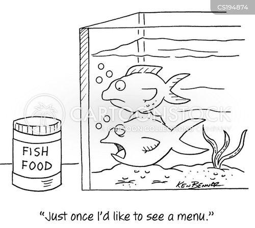 fish food cartoon