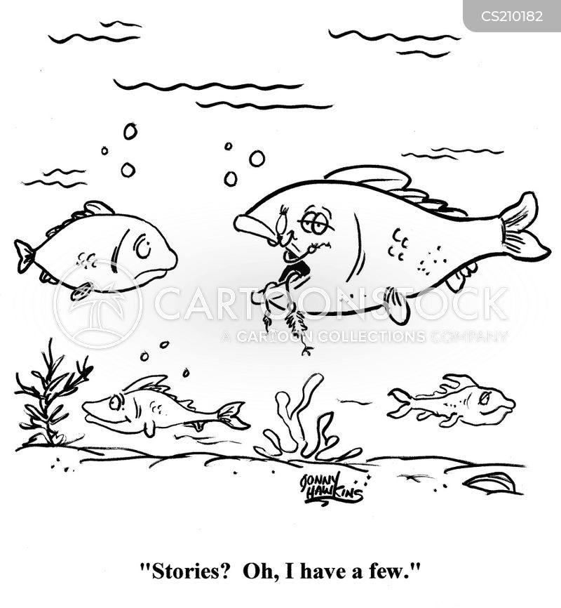 fish stories cartoon