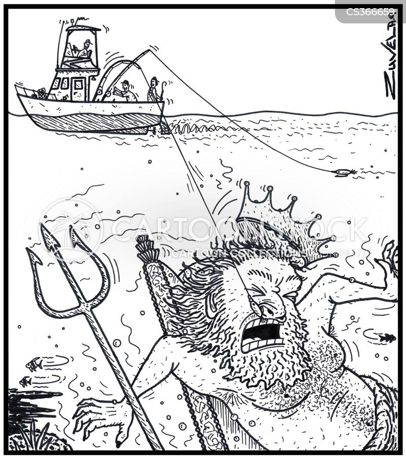 sea fishing cartoon