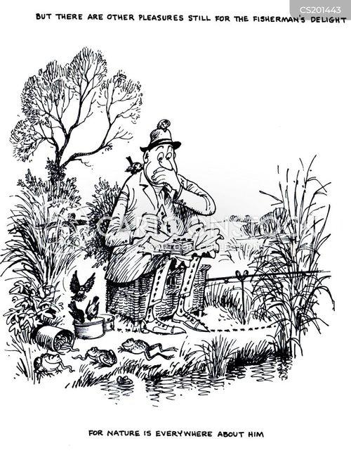 nature lovers cartoon