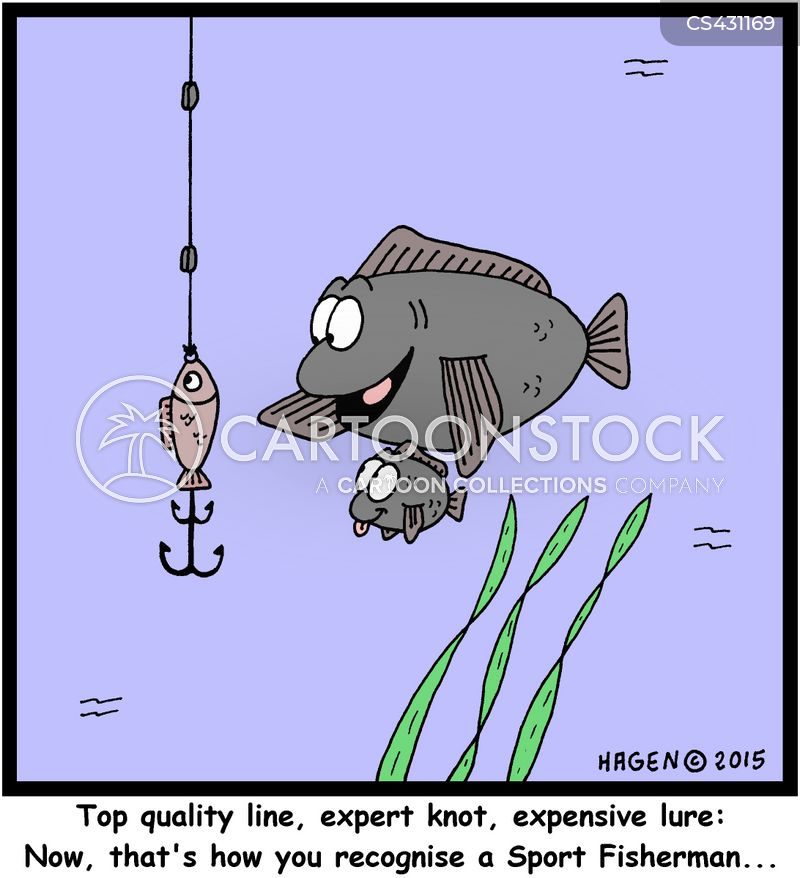sport fisherman cartoon