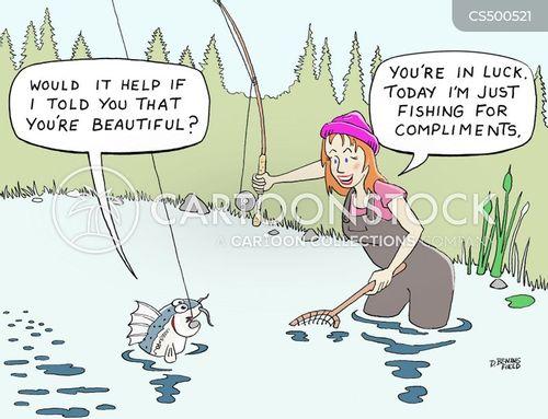 fisherwoman cartoon