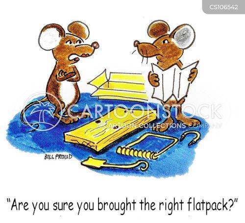 flat packs cartoon