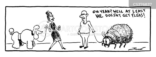 flea powder cartoon