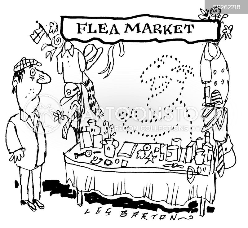 market stall cartoon