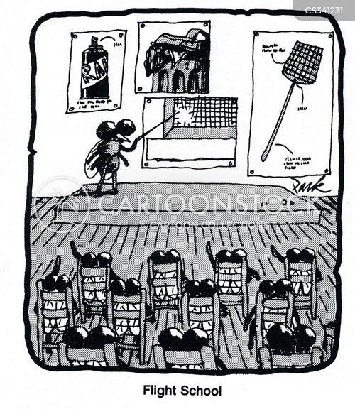 flight schools cartoon