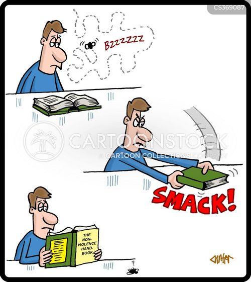 swatting cartoon
