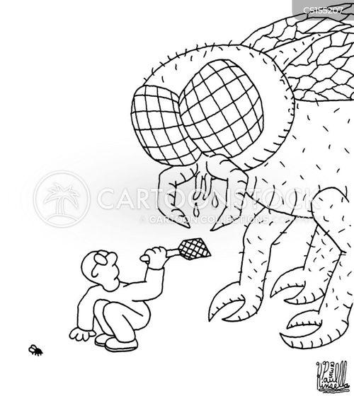 exterminating cartoon