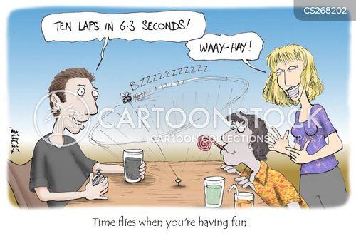 catching flies cartoon