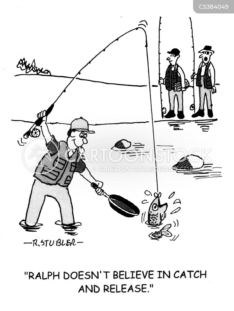 flyfishing cartoon