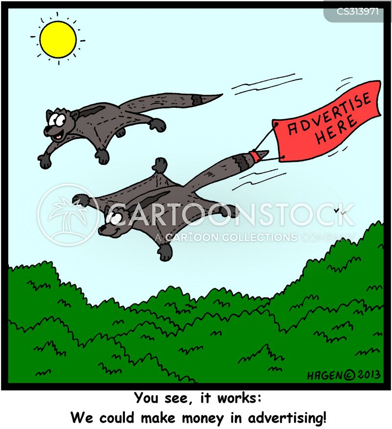 gliders cartoon