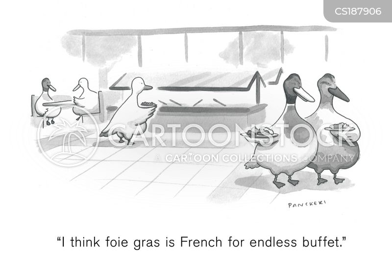 french foods cartoon