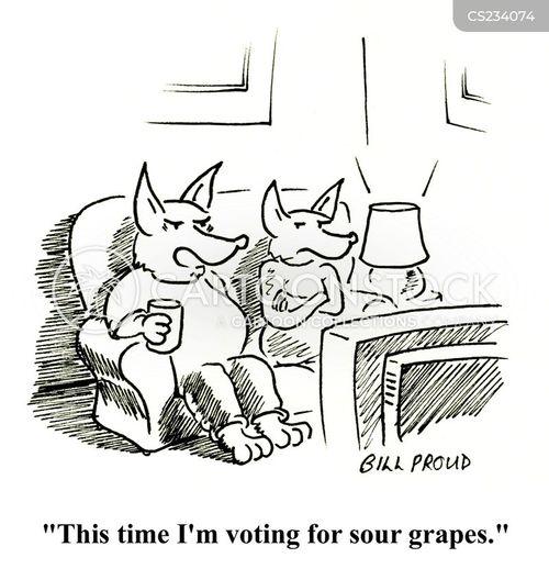 sour grapes cartoon