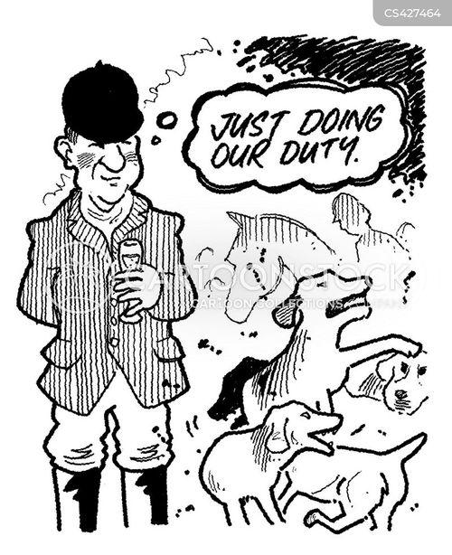fox hunt cartoon