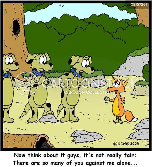 unfair fight cartoon