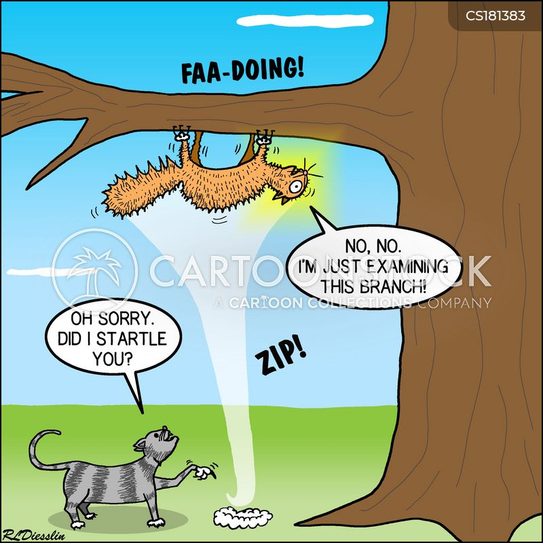 startled cartoon