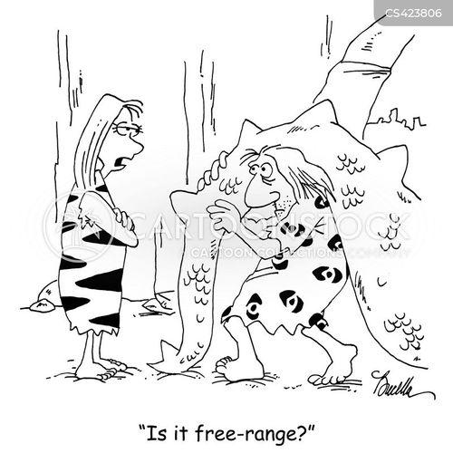 free range food cartoon