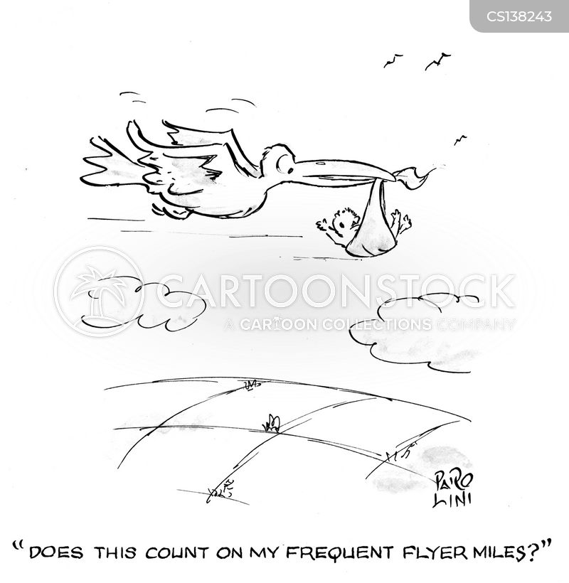 frequent flyer miles cartoon