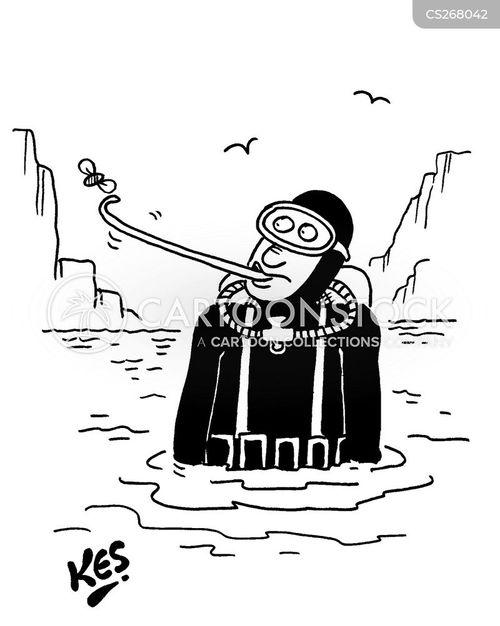 skin diver cartoon