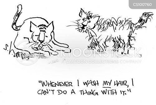 hair washing cartoon
